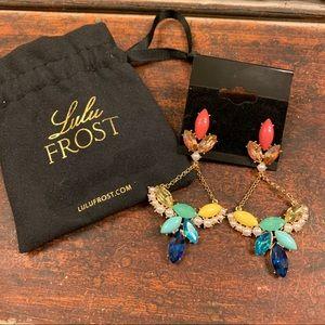 LULU FROST Bright Jeweled Chandelier Post Earrings